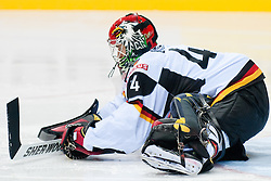 Dennis Endras of Germany during ice-hockey match between Denmark and Germany of Group E in Qualifying Round of IIHF 2011 World Championship Slovakia, on May 7, 2011 in Orange Arena, Bratislava, Slovakia. (Photo by Matic Klansek Velej / Sportida)
