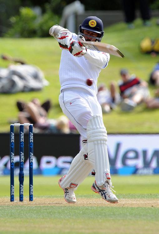Sri Lanka's Kithuruwan Vithanage hooks against New Zealand on day two of the first International Cricket Test, University Cricket Oval, Dunedin, New Zealand, Friday, December 11, 2015.Credit:SNPA / Ross Setford
