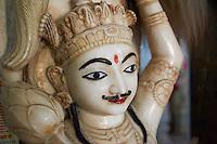 Inde, Bengale-Occidental, Murshidabad ancienne capitale du Bengale, temple Jain dans l'enceinte du palais Katgola // India, West Bengal, Murshidabad, former capital of Bengal, Jain temple near the Katgola palace
