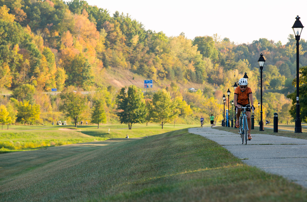 Both students and faculty use the Athens County Bike Path, everyday, for exercise and for transportation.