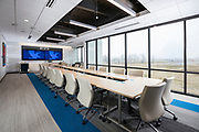 Interior photography of the conference room inside Guaranty Bank located in Springfield, MO.