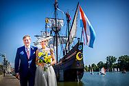 28-6-2018 Hoorn - King Willem-Alexander and Queen Maxima are posing  visit boat trip through the harbor of Hoorn during a regional visit to West-Friesland. ROBIN UTRECHT