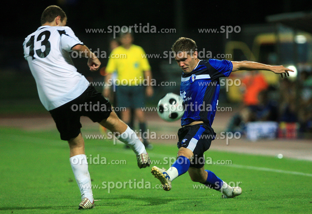 Jonathan Xerri of Hibernians and Sebastjan Komel of Gorica during 2nd match of 1st round Intertoto Cup soccer match between ND Gorica and Hibernians FC at Sports park, on June 28,2008, in Nova Gorica, Slovenia. (Photo by Vid Ponikvar / Sportal Images)