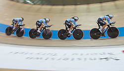 February 28, 2019 - Pruszkow, Poland - Lotte Kopecky (BEL),Shari Bossuyt (BEL),Jolien D'Hoore (BEL),Annelies Dom (BEL) on day two of the UCI Track Cycling World Championships held in the BGZ BNP Paribas Velodrome Arena on February 28, 2019 in Pruszkow, Poland. (Credit Image: © Foto Olimpik/NurPhoto via ZUMA Press)