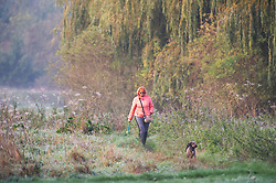©Licensed to London News Pictures 20/10/2019.<br /> Sidcup,UK. A cold autumnal October morning at Footscray Meadows on the River Cray, Sidcup, South East London. Photo credit: Grant Falvey/LNP