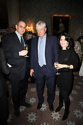 Left to right, WILLIE STIRLING and ARCHIE & SHARON STIRLING at a party to celebrate Penguin's reissue of Nancy Mitford's 'Wigs on The Green' hosted by Tatler at Claridge's, Brook Street, London on 10th March 2010.