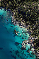 Aerial photograph of Tahoe from East Shore