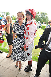 Left to right, LADY SITWELL and PHILIPPA HOLLAND at the 3rd day of the 2012 Glorious Goodwood racing festival at Goodwood Racecourse, West Sussex on 2nd August 2012.