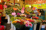 Tel Aviv, Israel, A flower stall at the Carmel Market