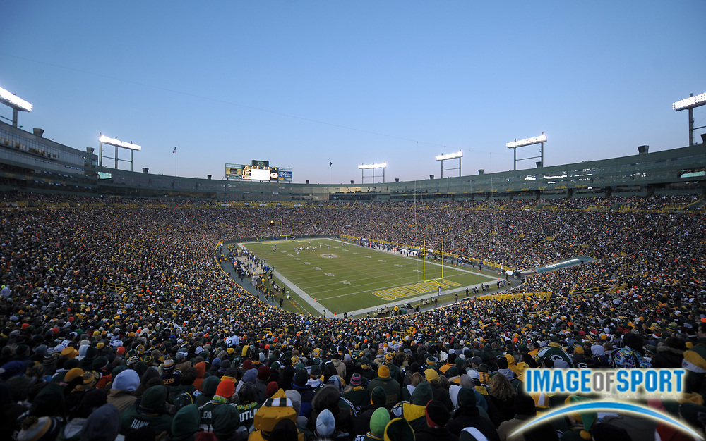 Dec 11, 2011; Green Bay, WI, USA; General view of Lambeau Field during the NFL game between the Oakland Raiders and the Green Bay Packers.