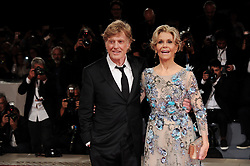 Our Souls At Night Premiere at the 74th Venice Film Festival. 01 Sep 2017 Pictured: VENICE, ITALY - SEPTEMBER 01: Jane Fonda and Robert Redford attend Our Souls At Night Premiere premiere during the 74th Venice Film Festival at Sala Casino. Photo credit: MEGA TheMegaAgency.com +1 888 505 6342