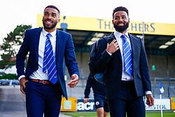 Tareiq Holmes-Dennis of Bristol Rovers and Alex Jakubiak of Bristol Rovers  - Mandatory by-line: Ryan Hiscott/JMP - 14/08/2018 - FOOTBALL - Memorial Stadium - Bristol, England - Bristol Rovers v Crawley Town - Carabao Cup