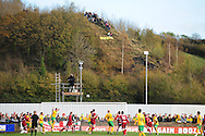 Bristol - Saturday November 7th, 2009: Fans watch from a nearby hill during the FA Cup 1st round match at Paulton. (Pic by Alex Broadway/Focus Images)..
