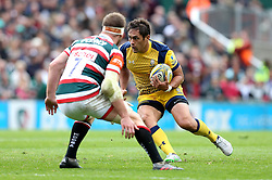 Jackson Willison of Worcester Warriors takes on Brendon O'Connor of Leicester Tigers - Mandatory by-line: Robbie Stephenson/JMP - 08/10/2016 - RUGBY - Welford Road Stadium - Leicester, England - Leicester Tigers v Worcester Warriors - Aviva Premiership