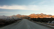 Sunrise along the park road near Teklanika in Denali National Park. Mornings were in the low 20s the entire week.