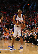 Apr 18, 2010; Phoenix, AZ, USA; Phoenix Suns forward Grant Hill (33)  during the first half in game one in the first round of the 2010 NBA playoffs at the US Airways Arena.  The Trail Blazers defeated the Suns 105-100.  Mandatory Credit: Jennifer Stewart-US PRESSWIRE