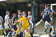 PENALTY Joe Rafferty (2) is penalised for holding during the EFL Sky Bet League 1 match between Southend United and Rochdale at Roots Hall, Southend, England on 2 September 2017. Photo by Daniel Youngs.