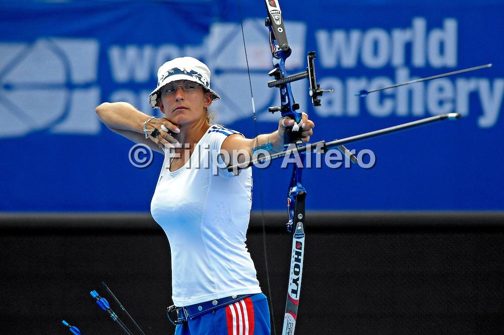&copy; Filippo Alfero<br /> Mondiali di tiro con l&rsquo;arco Torino 2011<br /> Torino, 10/07/2011<br /> sport tiro con l'arco<br /> Nella foto: Berengere Schuh (FRA)