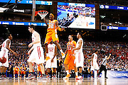 ST. LOUIS, MO - MARCH 26: Scotty Hopson #32 of the Tennessee Volunteers celebrates after dunking the basketball and drawing a foul in the game against the Ohio State Buckeyes during the Midwest regional semi-final of the NCAA men's basketball tournament at the Edward Jones Dome on March 26, 2010 in St. Louis, Missouri. Tennessee advanced with a 76-73 win. (Photo by Joe Robbins)