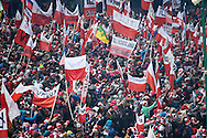Zakopane, Poland - 2017 January 22: Supporters during Large Hill Individual Competition FIS Ski Jumping World Cup 2017 at Wielka Krokiew on January 22, 2017 in Zakopane, Poland.<br /> <br /> Adam Nurkiewicz declares that he has no rights to the image of people at the photographs of his authorship.<br /> <br /> Picture also available in RAW (NEF) or TIFF format on special request.<br /> <br /> Any editorial, commercial or promotional use requires written permission from the author of image.<br /> <br /> Mandatory credit:<br /> Photo by © Adam Nurkiewicz / Mediasport