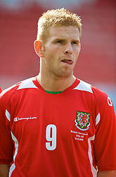 WREXHAM, WALES - Saturday, October 10, 2009: Wales' Marc Williams before the UEFA Under-21 Championship Qualifying Round Group 3 match against Bosnia-Herzegovina at the Racecourse Ground. (Pic by Chris Brunskill/Propaganda)