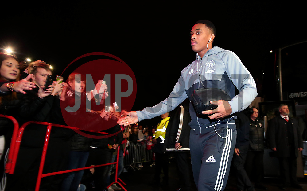 Anthony Martial of Manchester United arrives at Ashton Gate for the Carabao Cup Quarter Final tie with Bristol City - Mandatory by-line: Robbie Stephenson/JMP - 20/12/2017 - FOOTBALL - Ashton Gate Stadium - Bristol, England - Bristol City v Manchester United - Carabao Cup Quarter Final