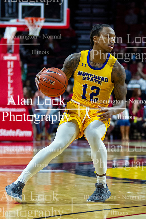 NORMAL, IL - December 07: Justin Thomas during a college basketball game between the ISU Redbirds and the Morehead State Eagles on December 07 2019 at Redbird Arena in Normal, IL. (Photo by Alan Look)