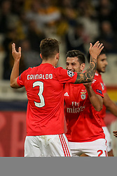 October 2, 2018 - Na - Athens, 10/2/2018 - AEK Athens FC received Sport Lisboa and Benfica at the Olympic Stadium in Athens for the second round match of the 2018/2019 Champions League. Party of Alex Grimaldi and Pizzi  (Credit Image: © Atlantico Press via ZUMA Wire)
