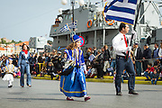 MYTILENE, LESVOS - NOV 8: Residents of Mytilene take part in a parade in celebration of the liberation of Lesvos from Turkish occupation.