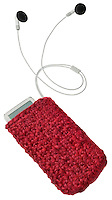 handmade ipod cover red knit