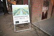 An advertisement for an Edward Burtinsky exhibition at the Paris-Beijing Photo Gallery in 798.