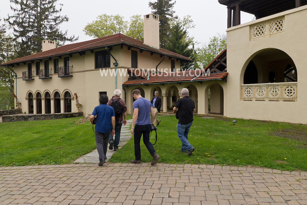 Highland Mills, New York - Location managers look arrive at the Rushmore Estate during a tour run by the Orange County New York Film Office on May 15, 2014.