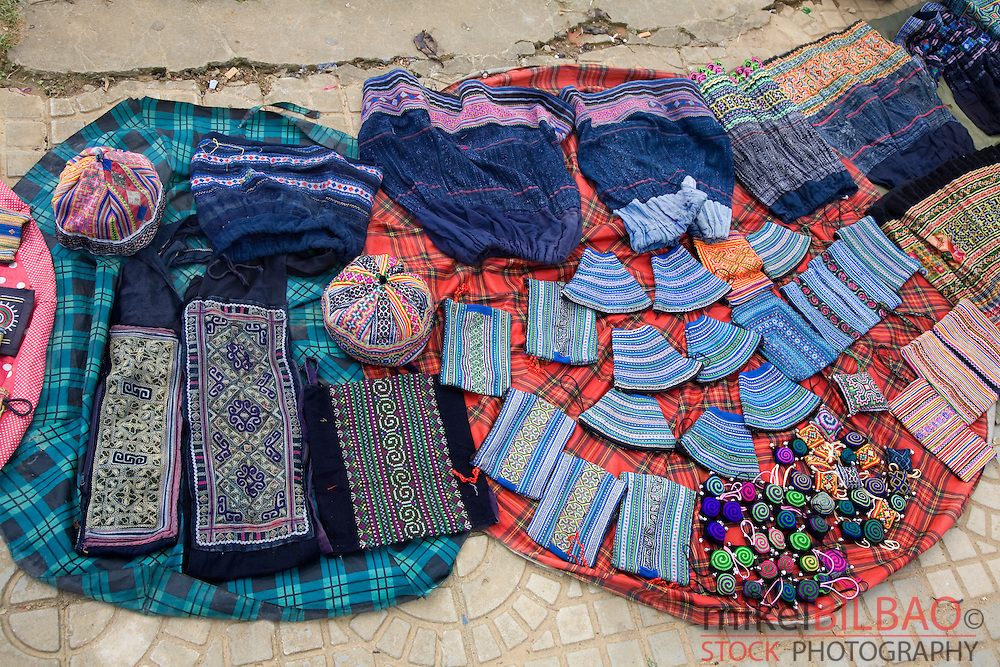 traditional crafts in a street stall in a market.<br />