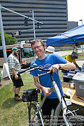 Each bike checked in to Bike Pgh's Bike Valet at the Three Rivers Arts Festival is carefully tagged.  Riders leave a cell phone number as an extra level of security.