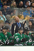 DALLAS, TX - OCTOBER 17:  Head coach Lindy Ruff of the Dallas Stars looks on team against the San Jose Sharks on October 17, 2013 at the American Airlines Center in Dallas, Texas.  (Photo by Cooper Neill/Getty Images) *** Local Caption *** Lindy Ruff