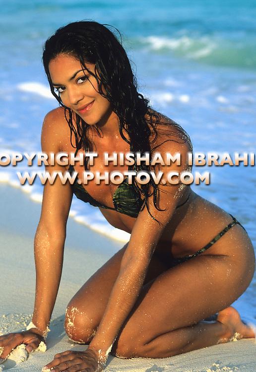 Sexy Latin Young Woman in a bikini, Cancun - Mexico