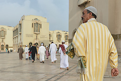 June 26, 2017 - Casablanca, Morocco - Moroccan Muslims on their way to celebrate Eid al-Fitr Prayer in Casablanca's Hassan II mosque. Muslims around the world celebrate Eid al-Fitr marking the end of the fasting month of Ramadan. (Credit Image: © Artur Widak/NurPhoto via ZUMA Press)