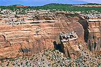 Fallen Rock formation found in the Upper Ute Canyon.  Colorado National Monument, Colorado.