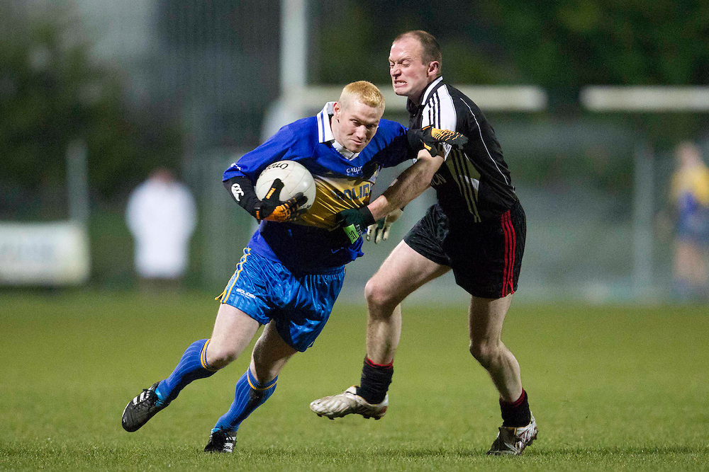 All Ireland Inter-firms JFC Final at Simonstown GFC, Navan 23/3/11.Tara Mines vs Sligo / Leitrim Gardai.Ryan McCormack (Tara Mines) & Dominic Gillully (Sligo / Leitrim Gardai).Photo: David Mullen /www.cyberimages.net