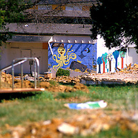 An abandoned recreation center in Alexandria slated for demolition.