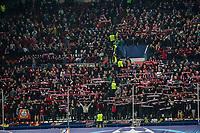 Supporters of  Bayer 04 Leverkusen during the match of Uefa Champions League between Atletico de Madrid and Bayer Leverkusen at Vicente Calderon Stadium  in Madrid, Spain. March 15, 2017. (ALTERPHOTOS / Rodrigo Jimenez)