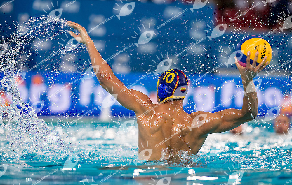 10 Francisco FERNANDEZ ESP<br /> FINA Men's Water polo Olympic Games Qualifications Tournament 2016<br /> Final 3rd place<br /> France FRA (White) Vs Spain ESP (Blue)<br /> Trieste, Italy - Swimming Pool Bruno Bianchi<br /> Day 08  10-04-2016<br /> Photo G.Scala/Insidefoto/Deepbluemedia