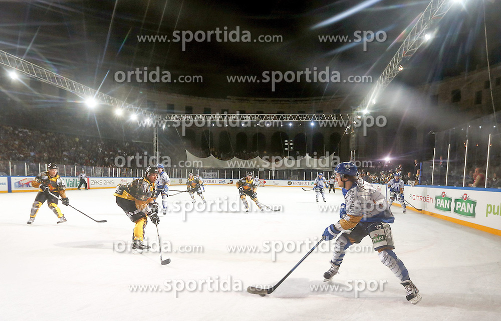 16.09.2012, Amphitheater, Pula, CRO, EBEL, Ice Fever, KHL Medvescak Zagreb vs UPC Vienna Capitals, 04. Runde, im Bild Spieluebersicht // during the Erste Bank Icehockey League 04th Round match betweeen KHL Medvescak Zagreb and UPC Vienna Capitals at the Amphitheater, Pula, Croatia on 2012/09/16. EXPA Pictures © 2012, PhotoCredit: EXPA/ Pixsell/ ATTENTION - OUT OF CRO, SRB, MAZ, BIH and POL *****