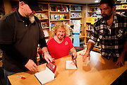 "Sammy Hagar signing copies of his autobiography ""Red"" at Left Bank Books in downtown St. Louis, Missouri."