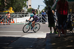Manon Lloyd (GBR) of Trek-Drops Cycling Team tries to bridge the gap on Stage 3 of the Amgen Tour of California - a 70 km road race, starting and finishing in Sacramento on May 19, 2018, in California, United States. (Photo by Balint Hamvas/Velofocus.com)