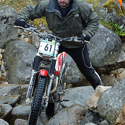 Jonathon Lunny Ireland  tries hard to negotiate the heavy boulders on the lagnaha section near duror in argyll.  The six day trial pits man and machine against the heavy highland terrain with the winner having he best times on each of the stages at the end of the six days. picture kevin mcglynn | STOCKPIX