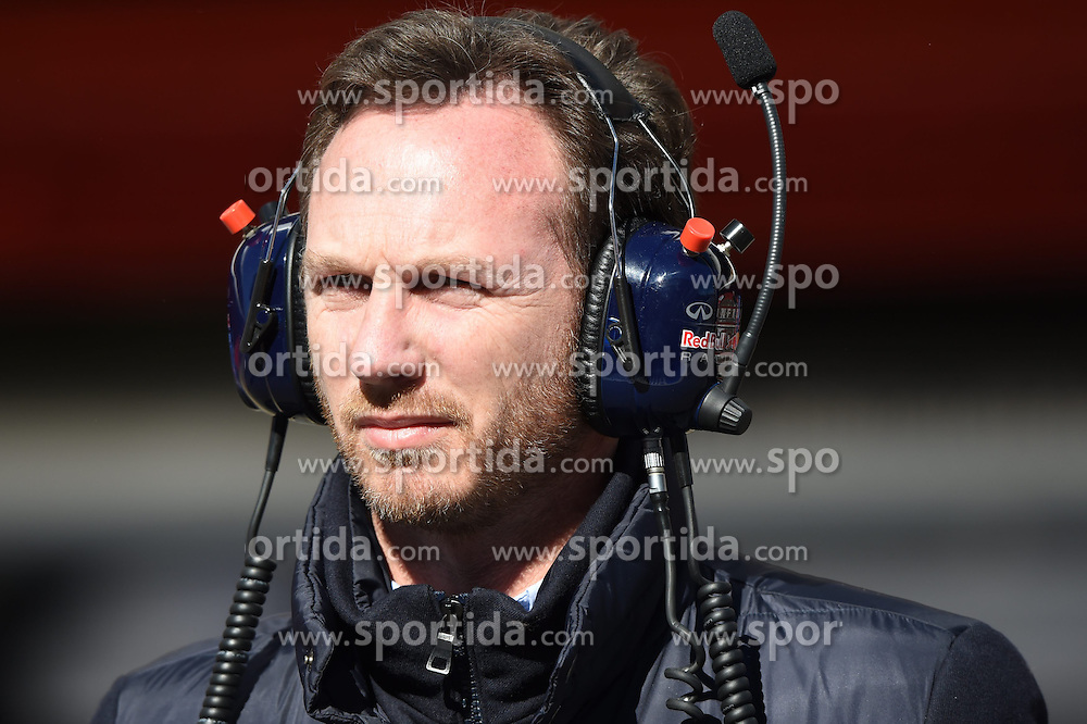 28.02.2015, Circuit de Catalunya, Barcelona, ESP, FIA, Formel 1, Testfahrten, Barcelona, Tag 3, im Bild Christian Horner (GBR) Red Bull Racing Team Principal // during the Formula One Testdrives, day three at the Circuit de Catalunya in Barcelona, Spain on 2015/02/28. EXPA Pictures &copy; 2015, PhotoCredit: EXPA/ Sutton Images/ Mark Images<br /> <br /> *****ATTENTION - for AUT, SLO, CRO, SRB, BIH, MAZ only*****