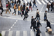 Hachiko pedestrian crossing in Shibuya Tokyo