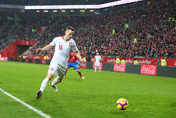 November 15, 2018 - Gdansk, Pomorze, Poland - Tomasz Kedziora (15) during the international friendly soccer match between Poland and Czech Republic at Energa Stadium in Gdansk, Poland on 15 November 2018  (Credit Image: © Mateusz Wlodarczyk/NurPhoto via ZUMA Press)