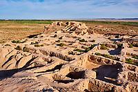 Ouzbekistan, region de Karakalpakstan, les citadelles du desert, Topraq Qala // Uzbekistan, Karakalpakstan province, desert citadel, Topraq Kala